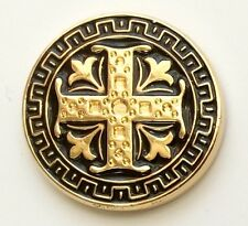 9 CT Gold Celtic Cross Black Holland & Sherry Blue Blazer Buttons