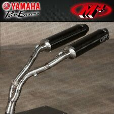 2004 - 2006 YAMAHA YZFR1 YZF R1 M4 EXHAUST DUAL CARBON CF SLIP ON W/ CAT REMOVAL