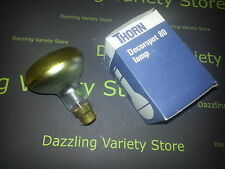 4 x Thorn 40W Decorspot 80 Lamp in YELLOW B22 BC Light Bulb 240V Made in UK