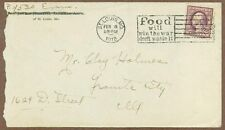"""World War I Soldier's Postal Cover, 1918, """"Food Will Win The War"""" Cancel"""