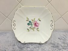 Vintage Radfords Bone China Floral Squared Gold Trim Plate England
