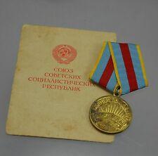 UdSSR Medaille für die Befreiung Warschaus Warschau 1945 mit Urkunde