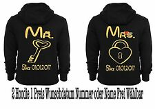 Mr Mrs Hoodie Pullover 2 Stück Partner Look Pärchen Sweatshirt Couple XS - 5XL