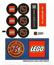 LEGO SPORTS Street Hockey NHL Logo STICKER SHEET ~ Replacement for Set 3579 NEW