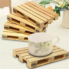 Set of 4 Wooden Mini Euro Pallets Coasters Wooden Pallet Coaster Cup Mug Mat