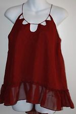 Twelfth Street by Cynthia Vincent Multiple Key Holes Cami Red Size M