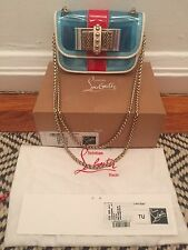 NIB Christian Louboutin Sweet Charity Small PVC & Leather Bag - Retails $995