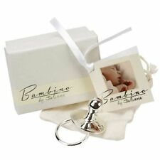 NEW Bambino Silver Plated Baby Dummy Christening Birth Gift Boy Girl CG1033