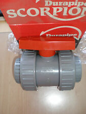 "1 1/2"" Solvent Weld Ball Valve Double Union PVC Equivalent ABS"