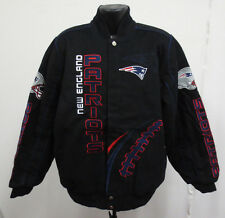 NEW ENGLAND PATRIOTS LARGE JACKET NFL FOOTBALL NEW MENS STITCH COTTON TWILL COOL