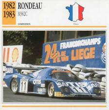 1982-1983 RONDEAU M382C Racing Classic Car Photo/Info Maxi Card