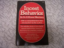 Incest Behavior by S. Kirson Weinberg 1976 Definitive Study of Intra-Family Sex