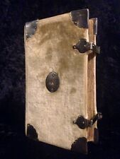 1712 SILVER CLASPS Book of Common Prayer BIBLE Royal Velvet Binding ILLUMINATED