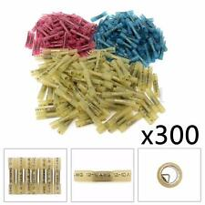 300Pcs Heat Shrink Insulated Electrical Butt Wire Connector Terminal Assortment