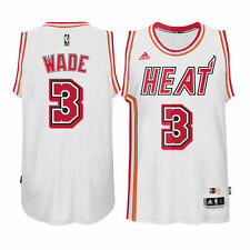 Dwyane Wade Miami Heat White Hardwood Classic Youth Medium 10/12 NBA Jersey $75