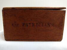 Cigar Box Wooden Vintage Patricians Royal Trio Cigar Factory Timbu Mata