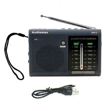 Audiomax FM/AM Portable analog Radio w SD /USB MP3 Player Voice Recorder