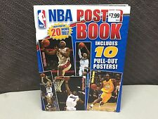 """New NBA 10 Pull-Out Poster Book 20"""" Tall LeBron James Kobe"""
