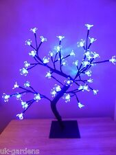 Light Up 45cm Blue Christmas Blossom Tree Decoration - LED Flower Lights
