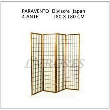 PARAVENTO Divisore Giapponese 180 X 180 CM  Carta di Riso Separè  Arredo Casa