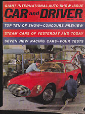 Car & Driver Magazine May 1962 International Auto Show Steam Cars  FREE US S/H