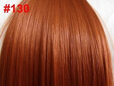"24"" Clip in Hair Extensions Straight Red Golden Ginger #130 One Piece"