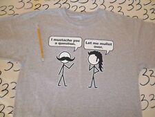 Large- NWOT I Mustache / Damaged Stain T- Shirt