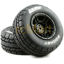 LOUISE 1:10 SC-Rocket Short Course Tire Soft Compound Black Rim Car #L-T3154SBTR