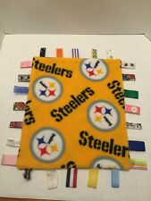 Pittsburgh Steelers Tag Taggie Security Blanket Baby Homemade