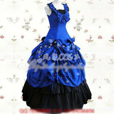 Lolita Gothic Palace  Princess Slim Short Sleeve Longuette Dress 4 Colors