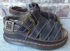 Dr. Martens Brown Leather Sandals US 5 UK 34 Canada 37 Weave Strappy New No Box