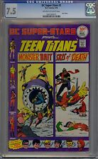 DC Super-Stars Presents Teen Titans #1 CGC 7.5 VF- Ow-Wp DC Comics 1976 Robin +