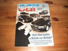 CAR MAGAZINE MAY-1994 - Escort cabriolet, Peugeot 306 cabriolet, Golf Avantgarde