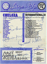 JOHN DEMPSEY TESTIMONIAL MATCH 11TH FEB 1980 SIGNED BOBBY MOORE EUSEBIO + OTHERS