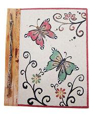 GRANDE Handmade Foto Album realizzato con sabbia naturale/deducibilità Farfalla Design Nuovo
