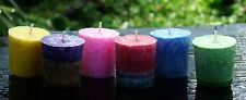 SPECIAL 6 PACK 120hr Colourful Votive Candles TRIPLE SCENTED MIXED PARTY SCENTS