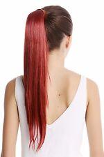 Postiche Tresse Peigne Enfichable & Bandeau Avec Des Cheveux Rouge