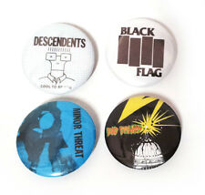 Lot of 4 - Punk / Hardcore - 1.25in Pins Buttons Badges