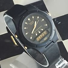 Pulsar Alarm Chronograph Military Time V041-9040 A0 Digital Analog Men's Watch