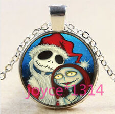 Nightmare Before Christmas Cabochon silver Glass Chain Pendant Necklace #3310