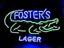 "Foster's Lager Alligator Real Glass Tube Beer Bar Neon Light Sign 16""x14"""