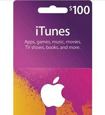 iTunes $100 Gift Card - Free Shipping **USPS MAIL ONLY**