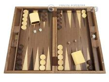 19-inch Classic Wood Backgammon Set - Starburst Inlay, Wooden Backgammon Board