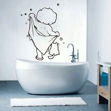 US STOCK Boys Shower Wall Stickers Vinyl Decal Bathroom Kid Art Decor Removable