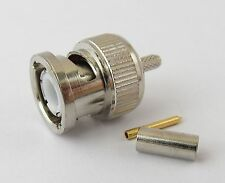 10 x BNC Male Plug Crimp Straight RF Connector for Coaxial Cable RG316 RG174