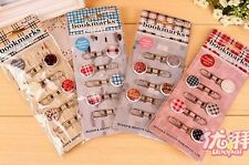 US Lot 20pcs Cute Decorative Bookmark pin Paper clips novelty office stationery