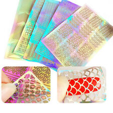 3 Sheets Nail Art Stamping Transfer Stickers Charm Manicure Stencil Tips Decal