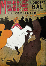 POSTER ARTE-MOULIN ROUGE-CONCERTO BAL-LAUTREC-DANCE A3 STAMPA