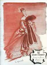 1945, NICOLE ROUMIER Perfumes - French Ad by Brenot