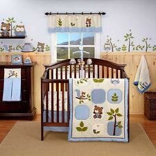 Eddie Bauer OWL CREEK 10pc Crib Bedding Set BUMPER NATURE Boy Nursery decor Blue